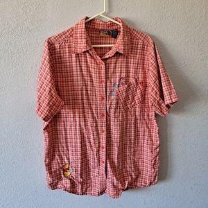 Vintage Winnie the Pooh Plaid Button Down Shirt